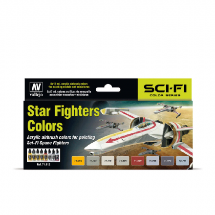 Vallejo Model Air Star Fighters Colours Paint Set